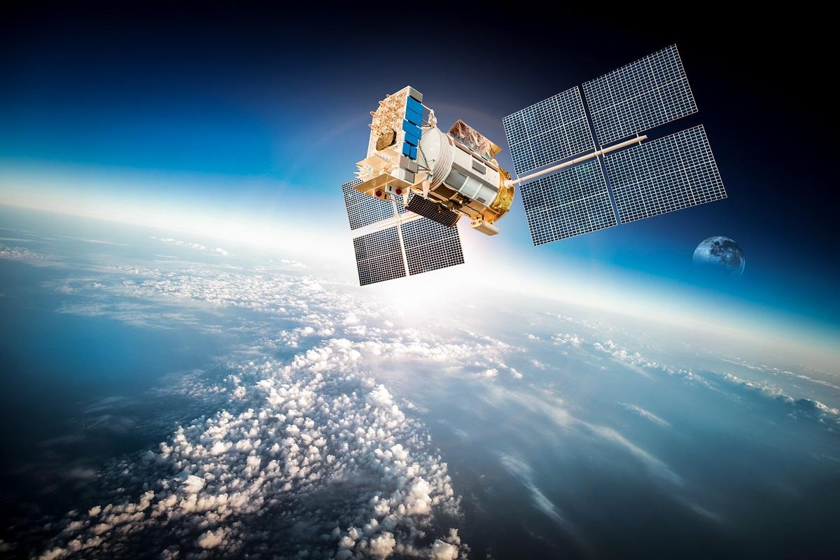 Close up of satellite
